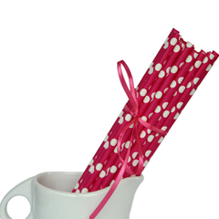 Paper Straws, Hot Pink