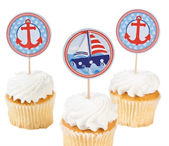 Little Sailor Cupcake Toppers