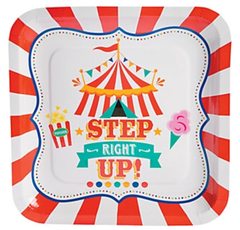 Circus Under the Big Top, Dinner Plates
