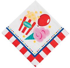 Circus Under the Big Top Beverage Napkins