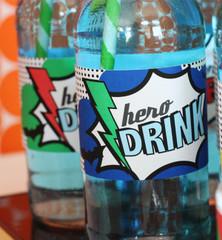 Superhero Drink Wrappers