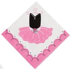 Pretty Pink Ballerina Napkin