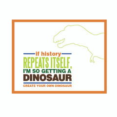 Dinosaur Roars Party Poster