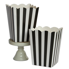 Popcorn Box, Black Stripes