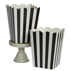 Popcorn Box, Black Stripes
