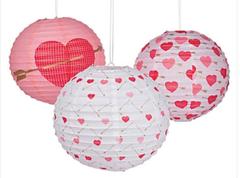 Valentine's Hanging Lanterns