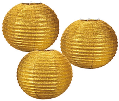 Glitter Paper Lanterns, Gold