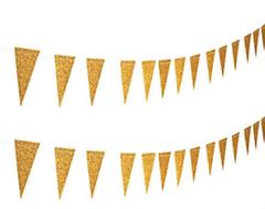 Glitter Bunting, Gold