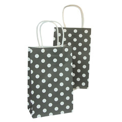 Party Bag, Black Polka Dots, Small