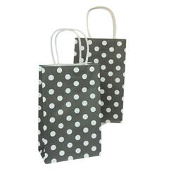 Party Bag, Black Polka Dots, Small