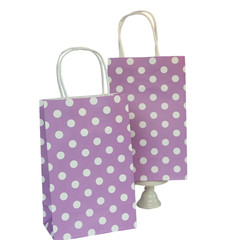 Party Bag, Purple Polka Dots, Small