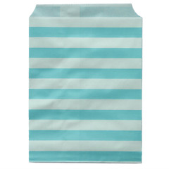 Treat Bag, Aqua Stripes