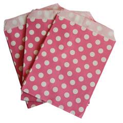 Treat Bag, Hot Pink Polka Dots