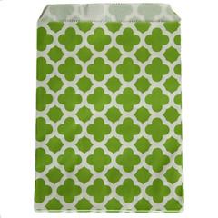 Treat Bag, Green Quatrefoil