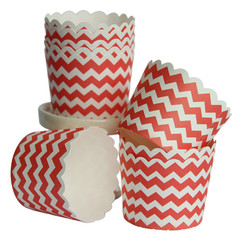 [SALE] Baking / Treat cups, Red Chevron