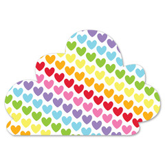 Rainbow Cloud Decoration, Hearts