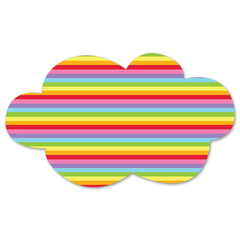 Rainbow Cloud Decoration, Vertical Stripes