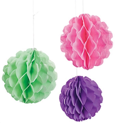 Pastel Honeycomb Balls