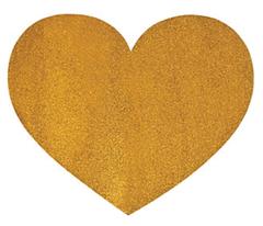 Glamorously Glittery Gold Heart