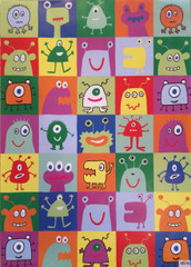 Monsters Wrapping Paper