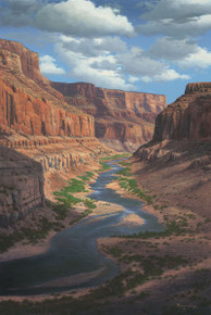 Grand Canyon River Canvas Art Prints | Following Time by RW Hedge