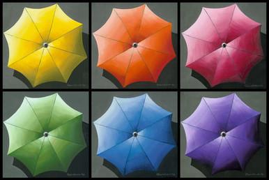 Rainbow of Umbrellas by Lynne Bernbaum
