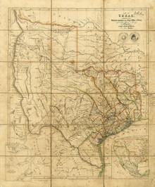 1841 Republic of Texas Map