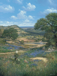 Big Country Crossing by George Kovach | Texas Hill Country Bluebonnet Fine Art Prints
