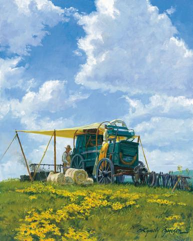 Western Canvas Art Prints | Home On The Range by Lyndy Benson