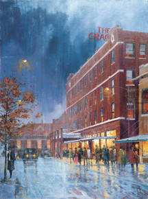 Fine Art Canvas Print of H. C. Zachry's painting of the Grace Hotel in Abilene, Texas.