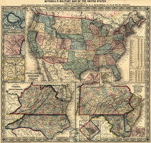 1861 Mitchell' s Map of the United States