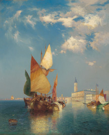 Thomas Moran painting The Grand Canal Fine Art Canvas Giclee print