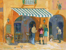 H. C. Zachry's The Wine Bar Fine Art Canvas Giclee Print