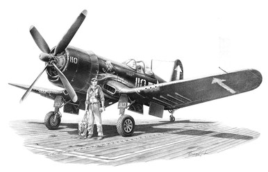 Vought F4U-4 Corsair by Mike Lynch