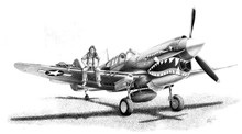 Curtis P-40 Warhawk by Mike Lynch