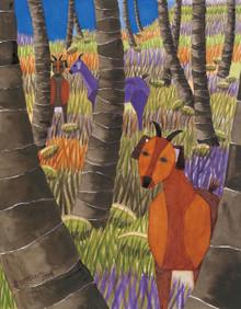 Goats In Coconuts 4 by Lynne Bernbaum