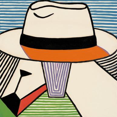 Goats Rule from the Panama Hats Series by Lynne Bernbaum