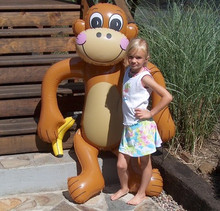 "72"" Inflatable Monkey with Banana"
