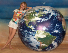 "72"" Inflatable ASTRONAUTS VIEW Earth Globe w/Clouds"