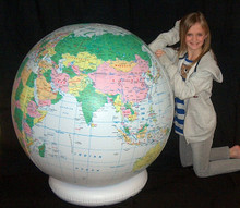 "54"" Inflatable Earth Globe LIGHT BLUE"