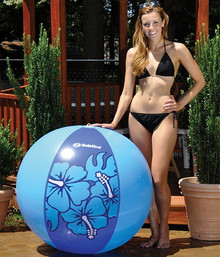 "46"" 2 Color Blue `Hibiscus` Beach Ball"