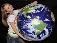 """36"""" Inflatable """"ASTRONAUTS VIEW"""" Earth Globe w/Clouds"""