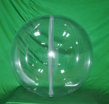 """36"""" 6 Panel Clear GLOW STICK or SPRINKLER Beach Ball w/ Clear Frost Tube"""
