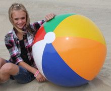 """36"""" 6 Color Traditional Beach Ball"""