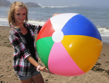 """36"""" 6 Color Beach Ball w/Pink"""