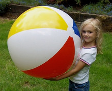 """36"""" 4 Color Classic Style Beach Ball - Glossy"""