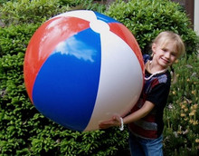 """36"""" 3 Color Red, White & Blue Patriotic Beach Ball"""