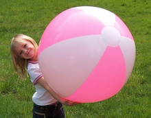 """36"""" 2 Color Pink & White Beach Ball"""