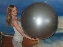 "36"" 1 Color Silver Beach Ball"