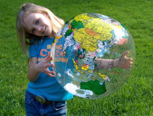 "24"" Inflatable ""CLEAR"" Earth Globe-  Political"